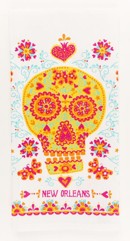 Sugar Skull Kitchen Towel,10074