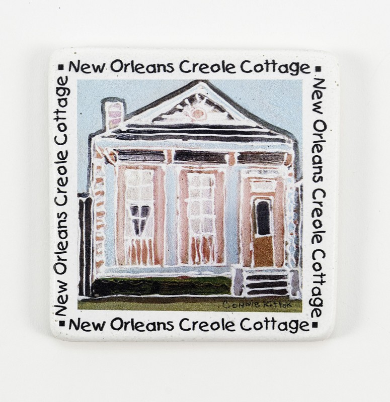 Creole Cottages Coaster Set,10020