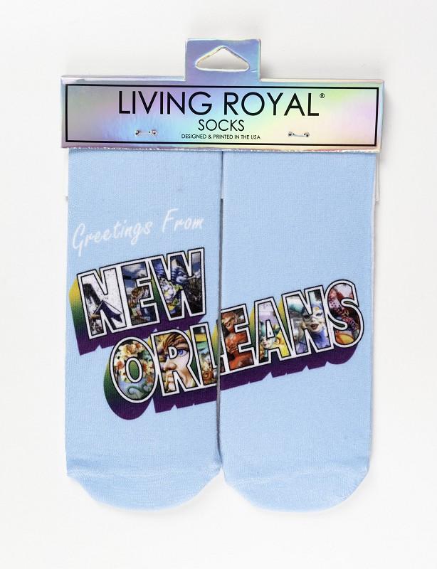 Greetings from New Orleans Socks,CUSTOM