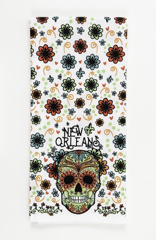 Sugar Skull Floral Kichen Towel,10281