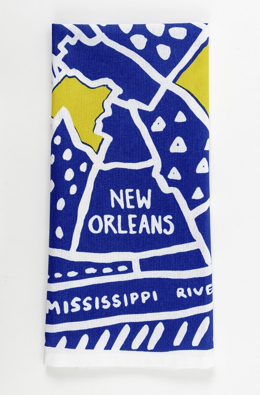 New Orleans Map Kitchen Towel,10294