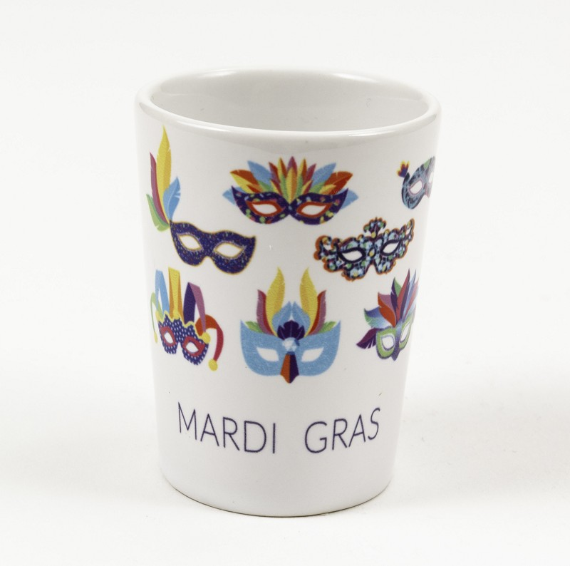 Mardi Gras Mask Shot Glass,018025