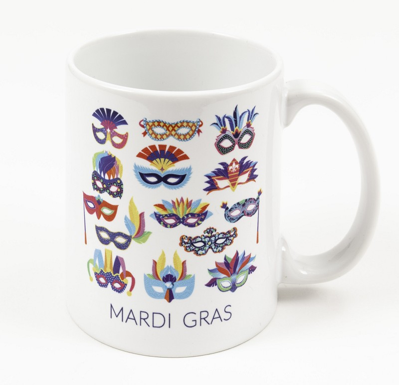 Mardi Gras Mask All Over Mug,017150