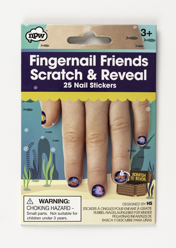 Scratch and Reveal Fingernail Friends,57348