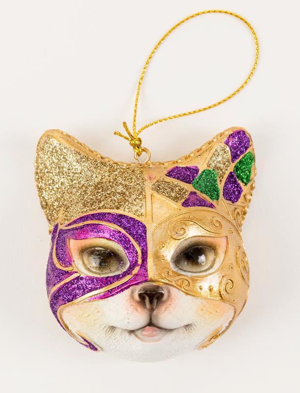 Mardi Gras Kitty Ornament,S03
