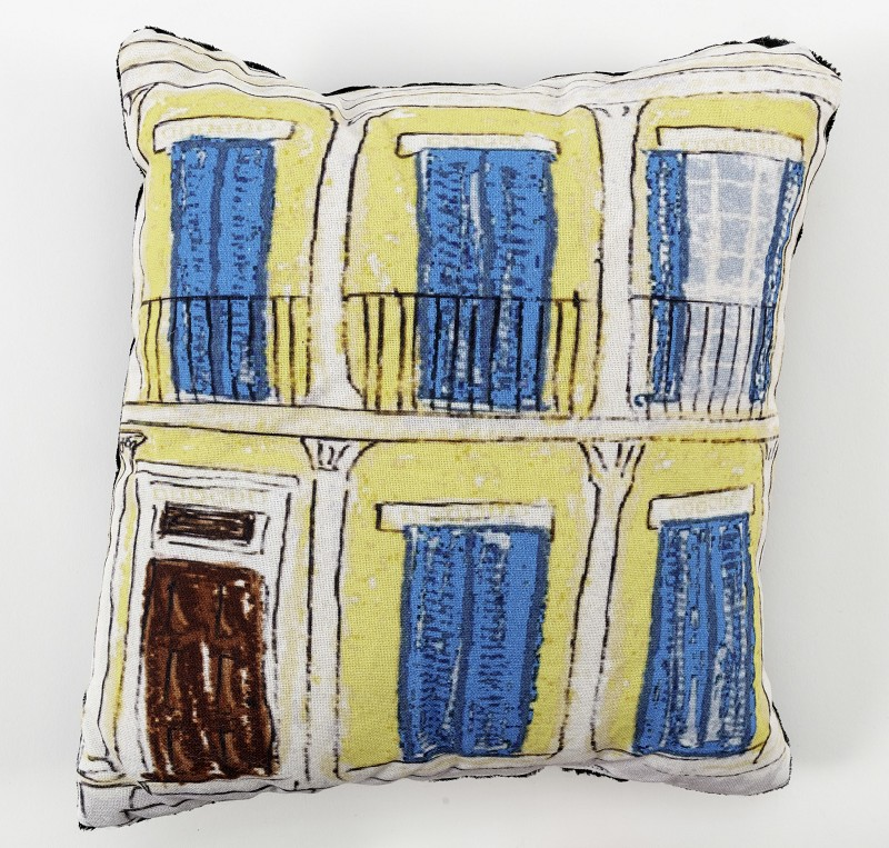 Creole Cottage Pillow- Yellow,10293