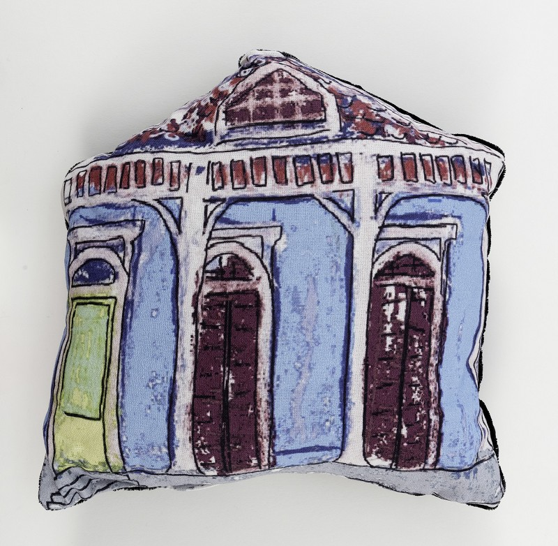 Creole Cottage Pillow- Blue,10291
