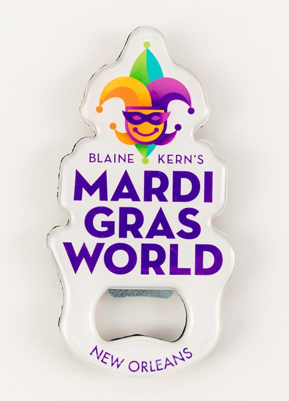 Mardi Gras World Logo Bottle Opener,250100