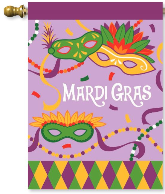 Mardi Gras Flag,00215