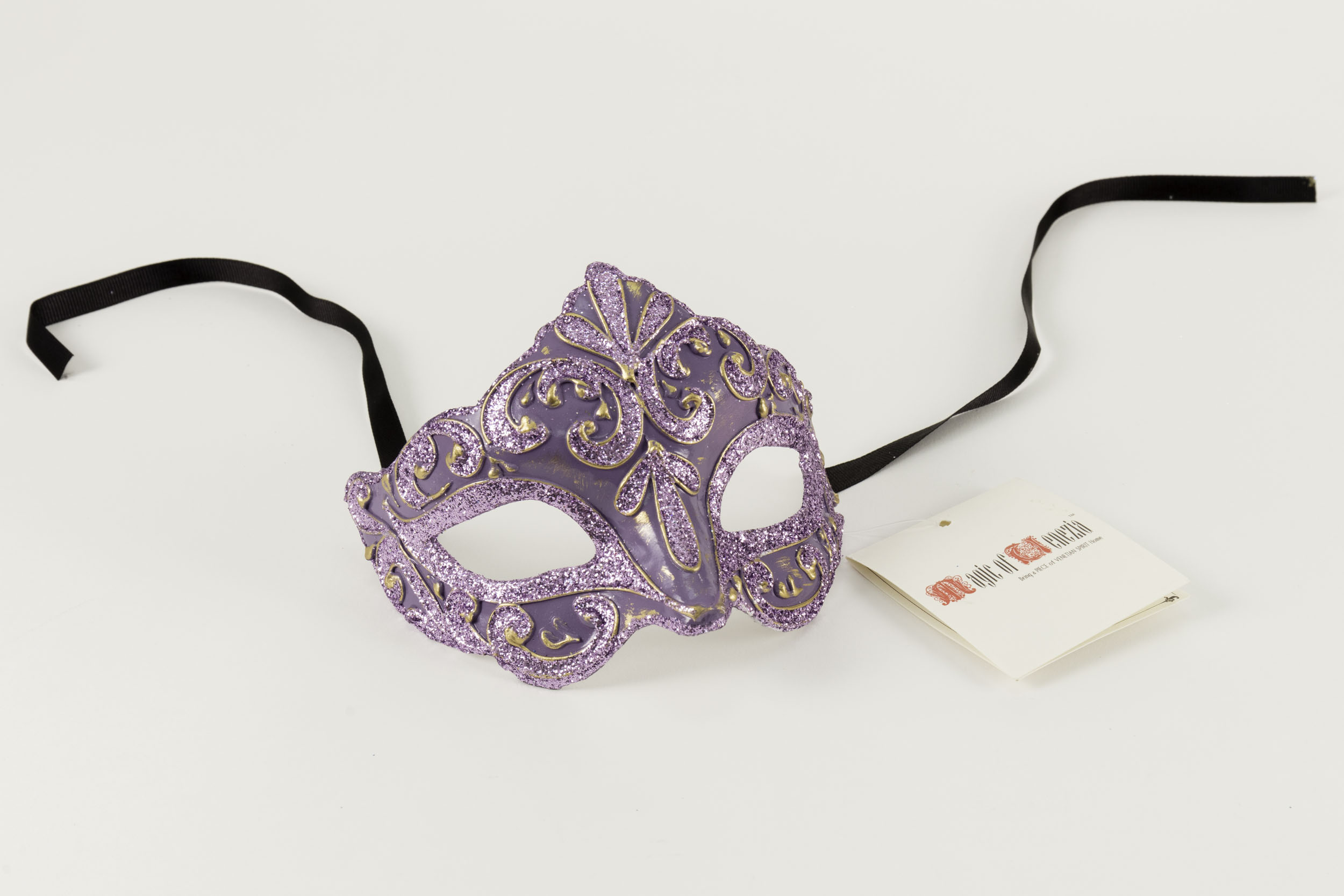 Colombina Liliana Venetian Purple Mask,C106PU