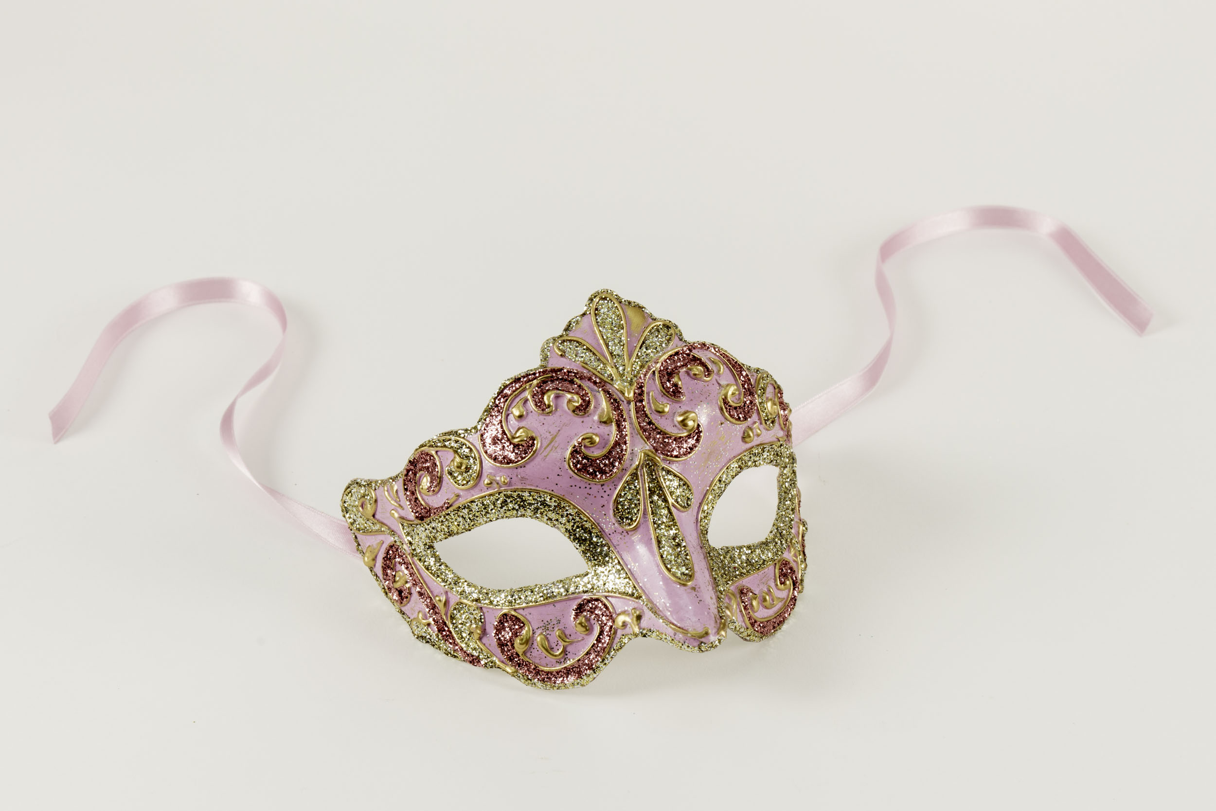 Colombina Liliana Venetian Purple/Gold Mask,C106G