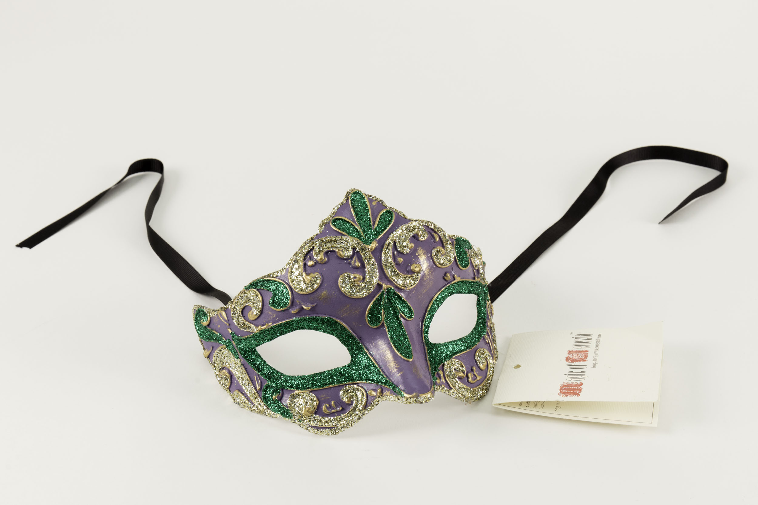 Colombina Liliana Venetian Purple/Green Mask,C106GR