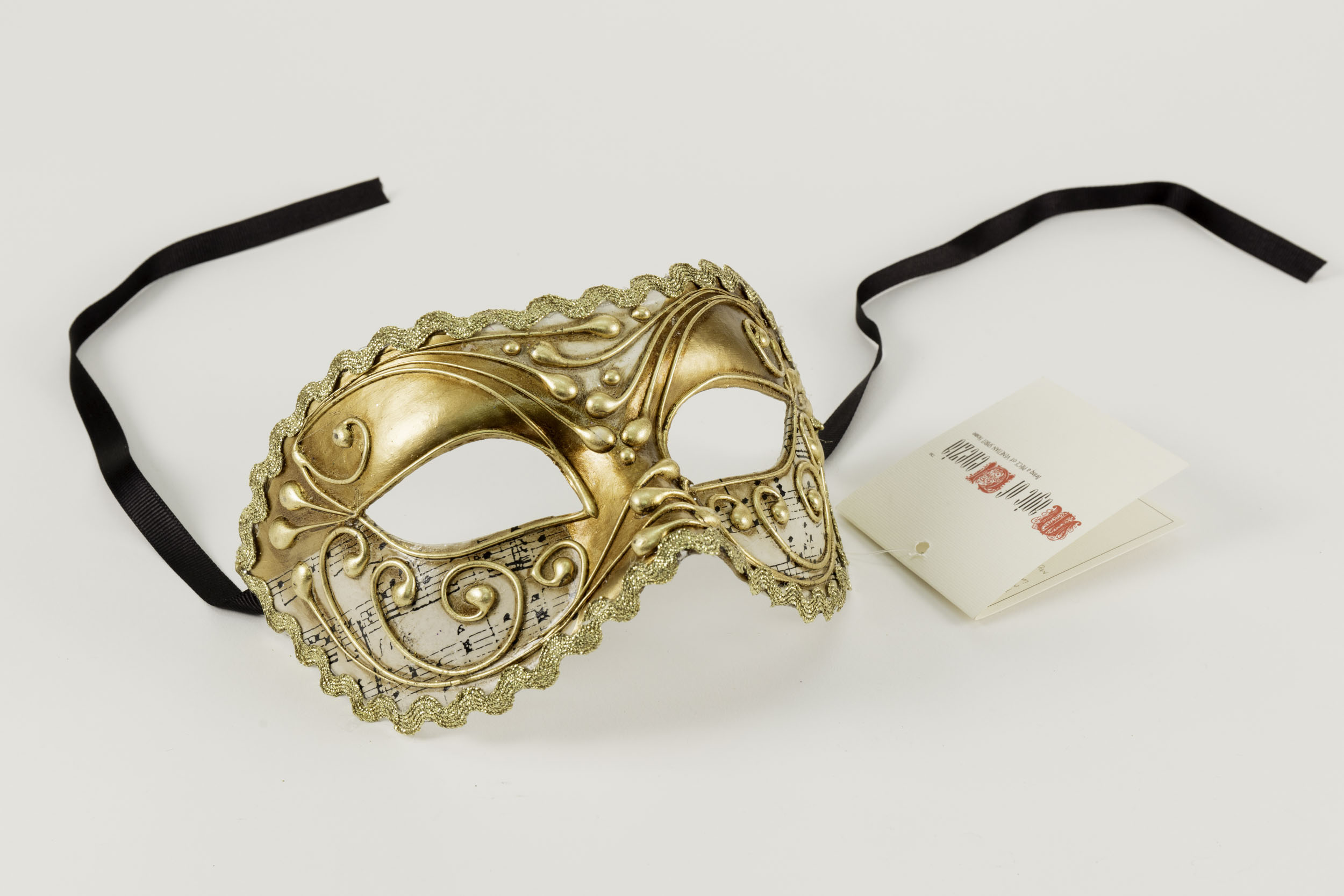 Colombina Sonata Venetian Gold Mask,C1G