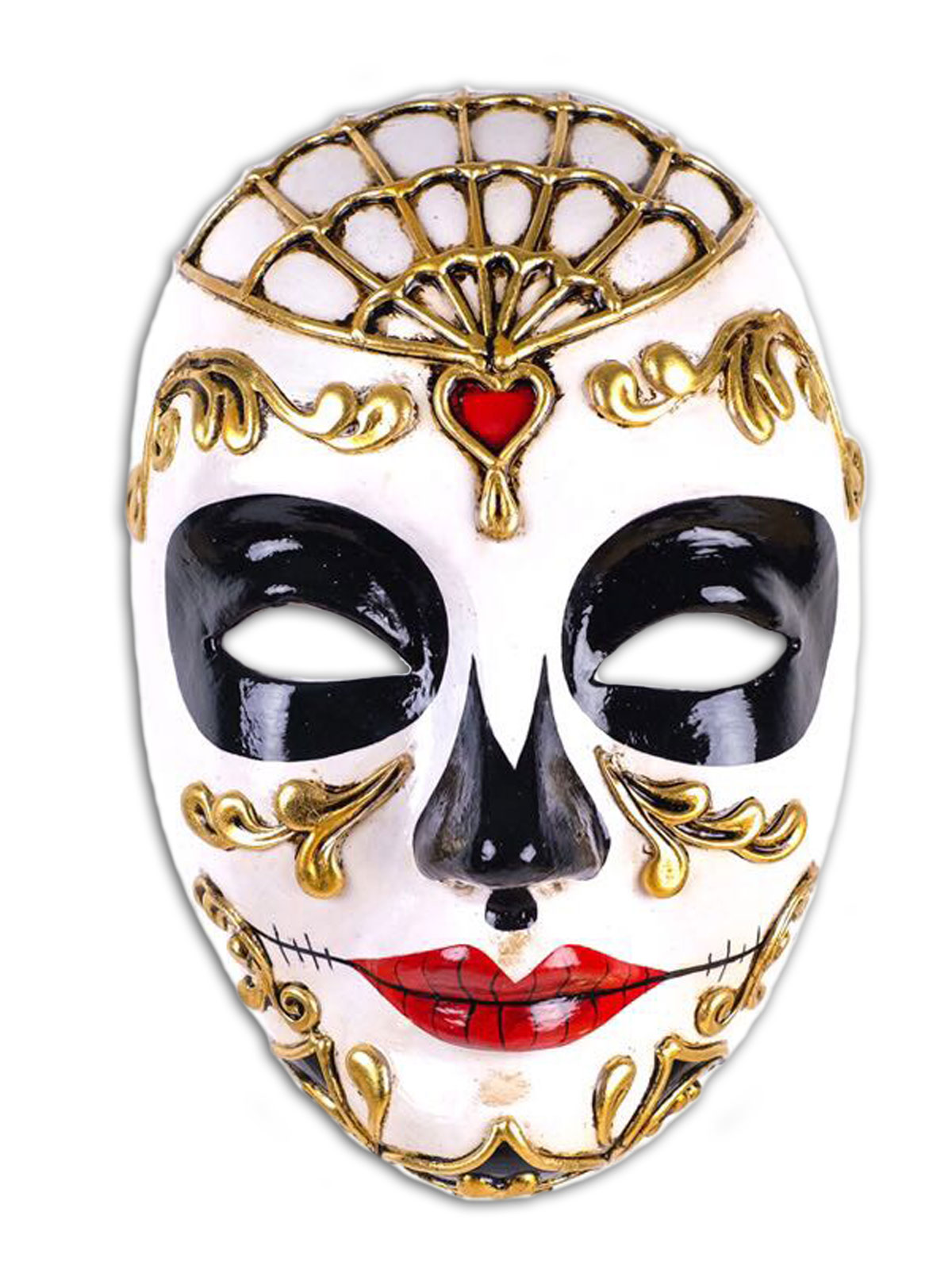 Volto Teschio Carazon Venetian Female Mask,V55F