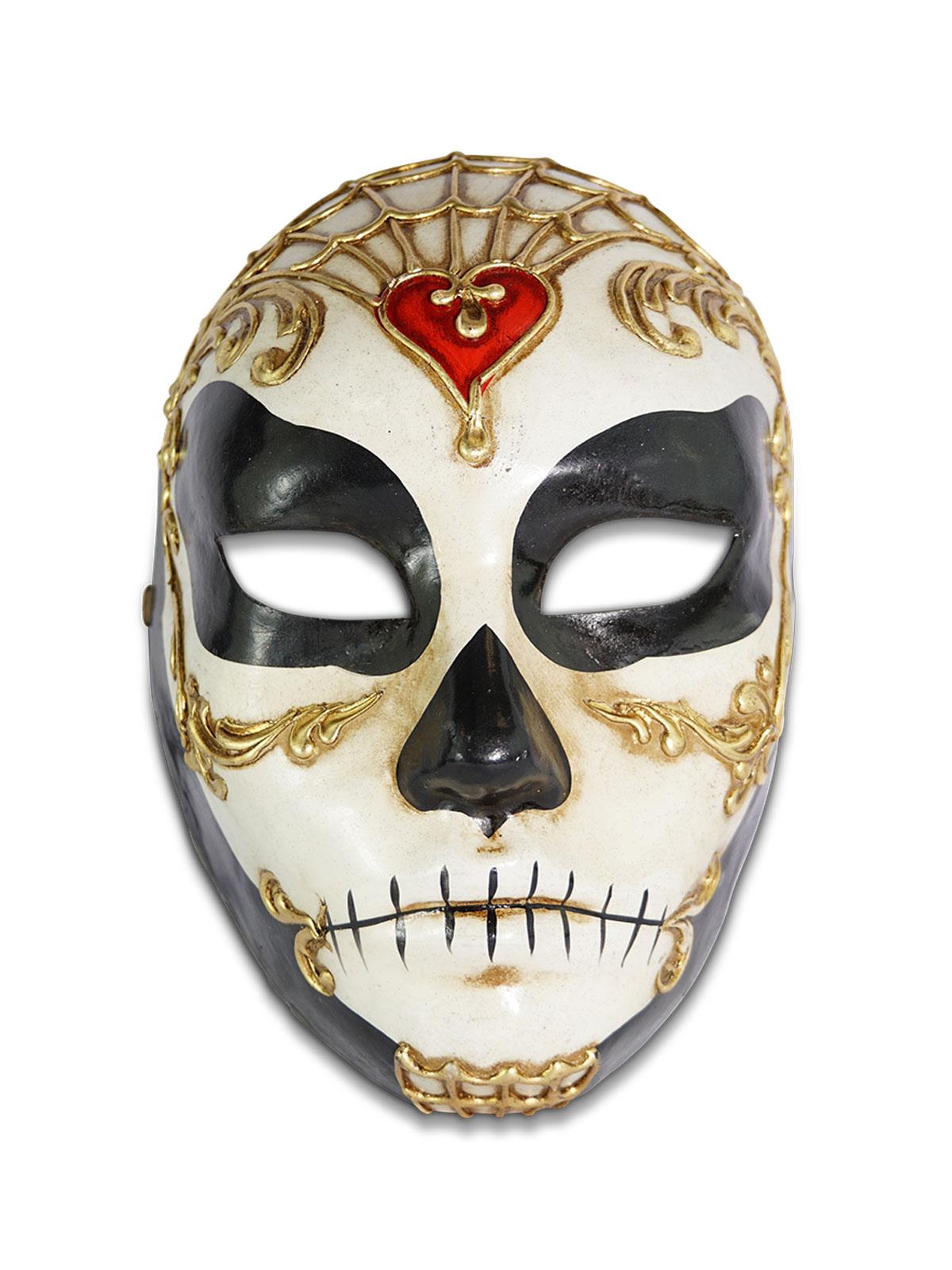 Volto Teschio Carazon Venetian Male Mask,V55M