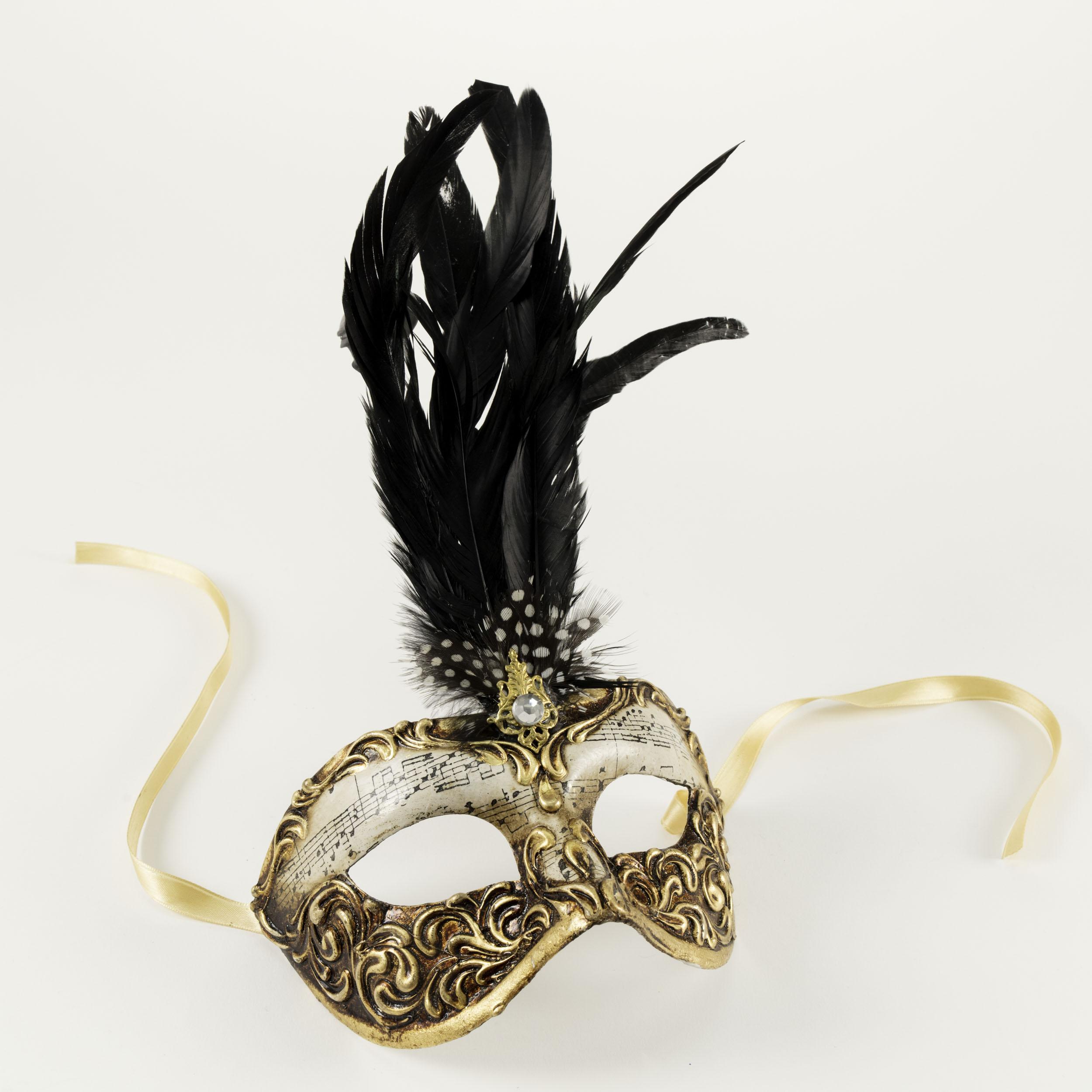 Colombina Capriccio Piume Venetian Mask,C16B