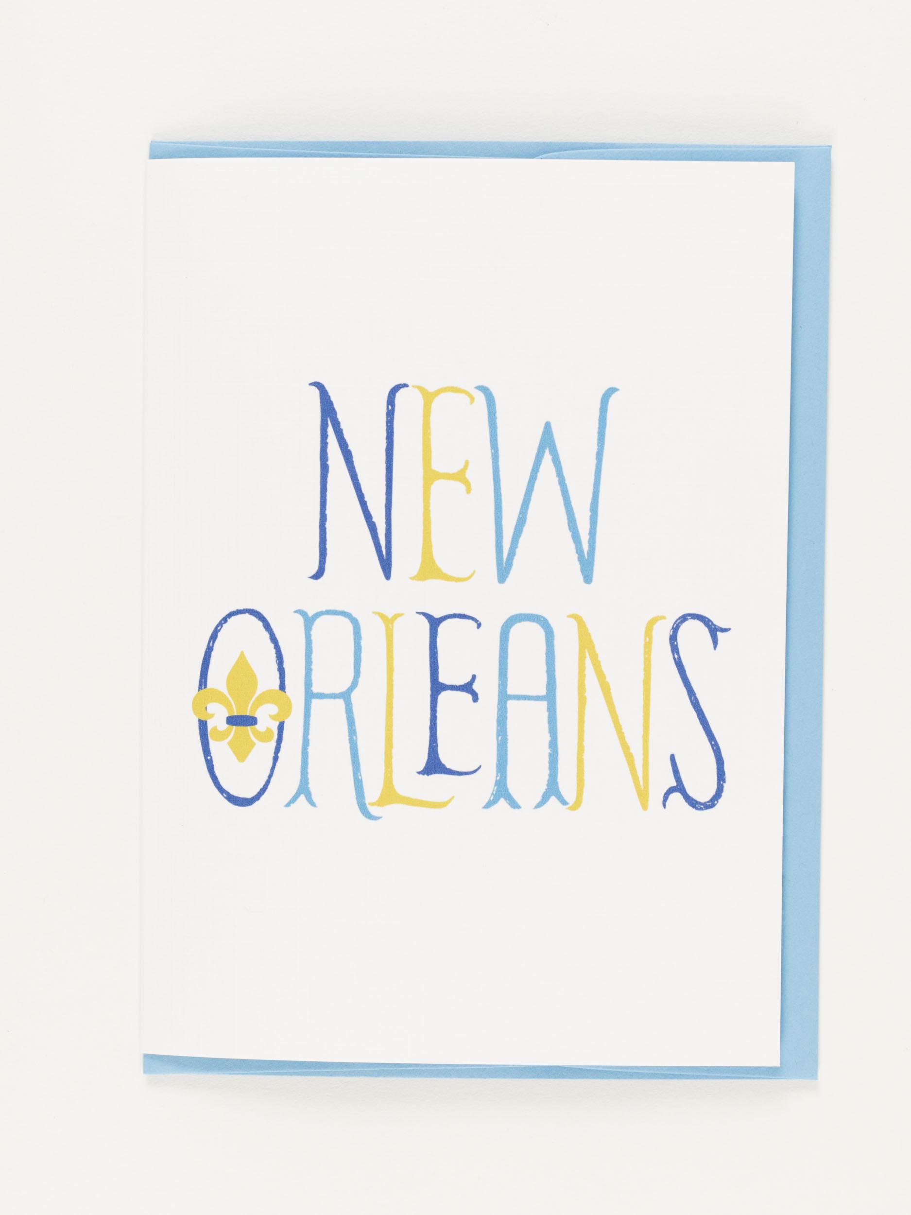 My Town Notecard- New Orleans Fleur de Lis,NC-TOWN