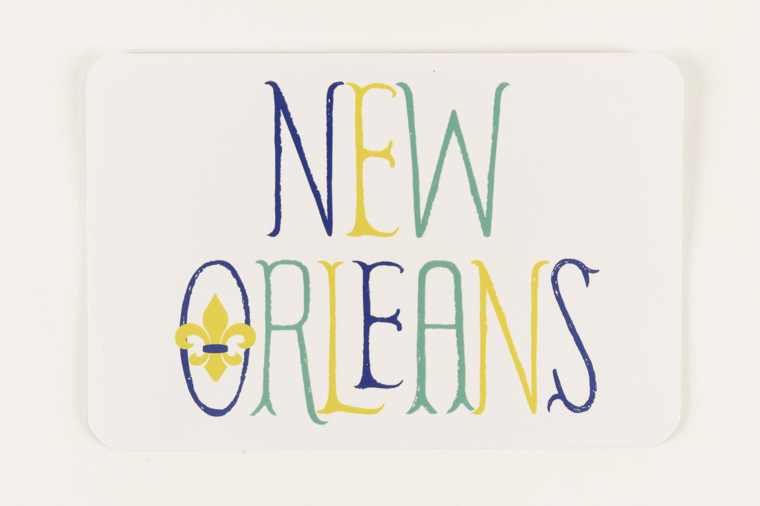 My Town Postcard New Orleans Fleur de Lis,PC-TOWN