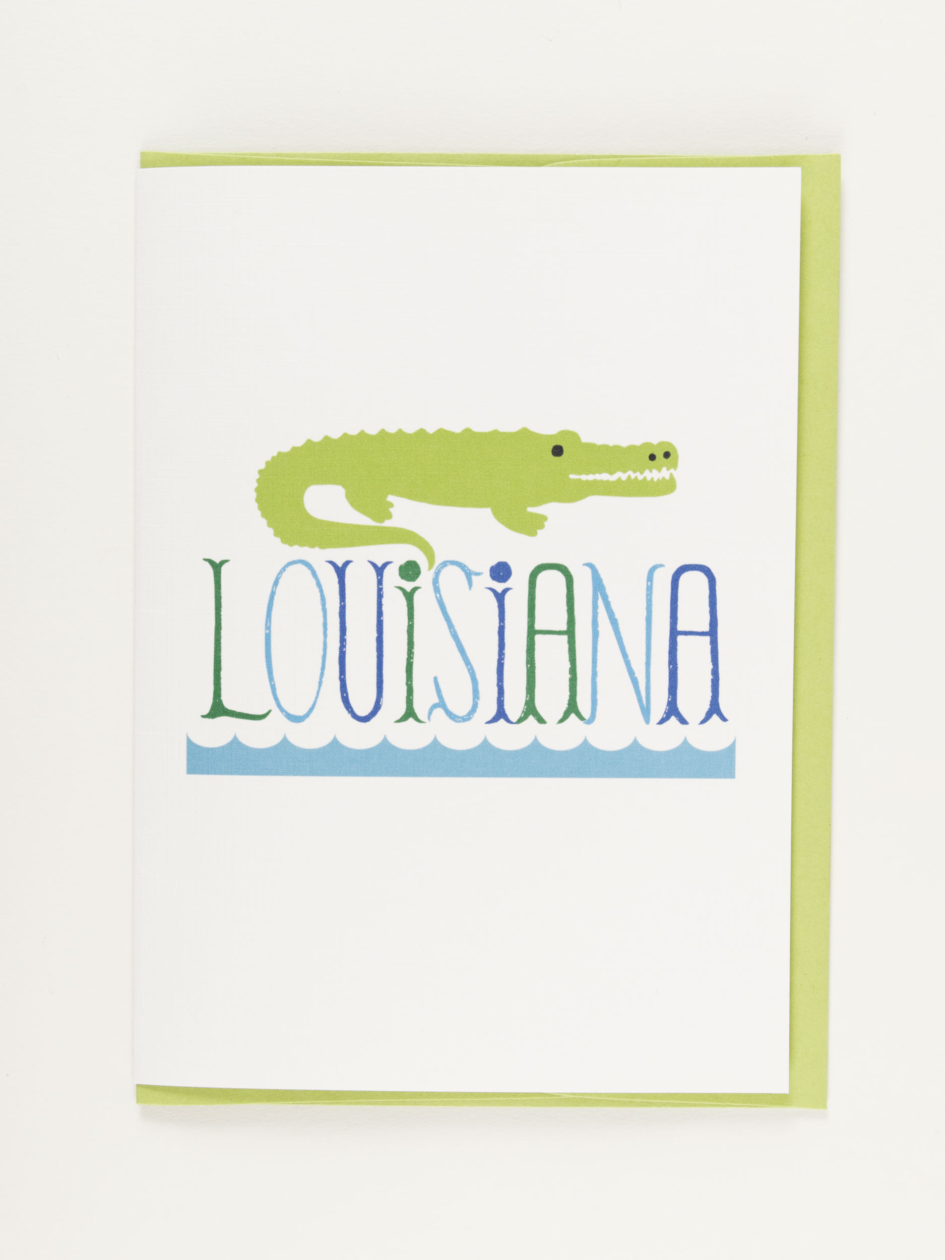 My Town Notecard Louisiana Alligator,NC-TOWN