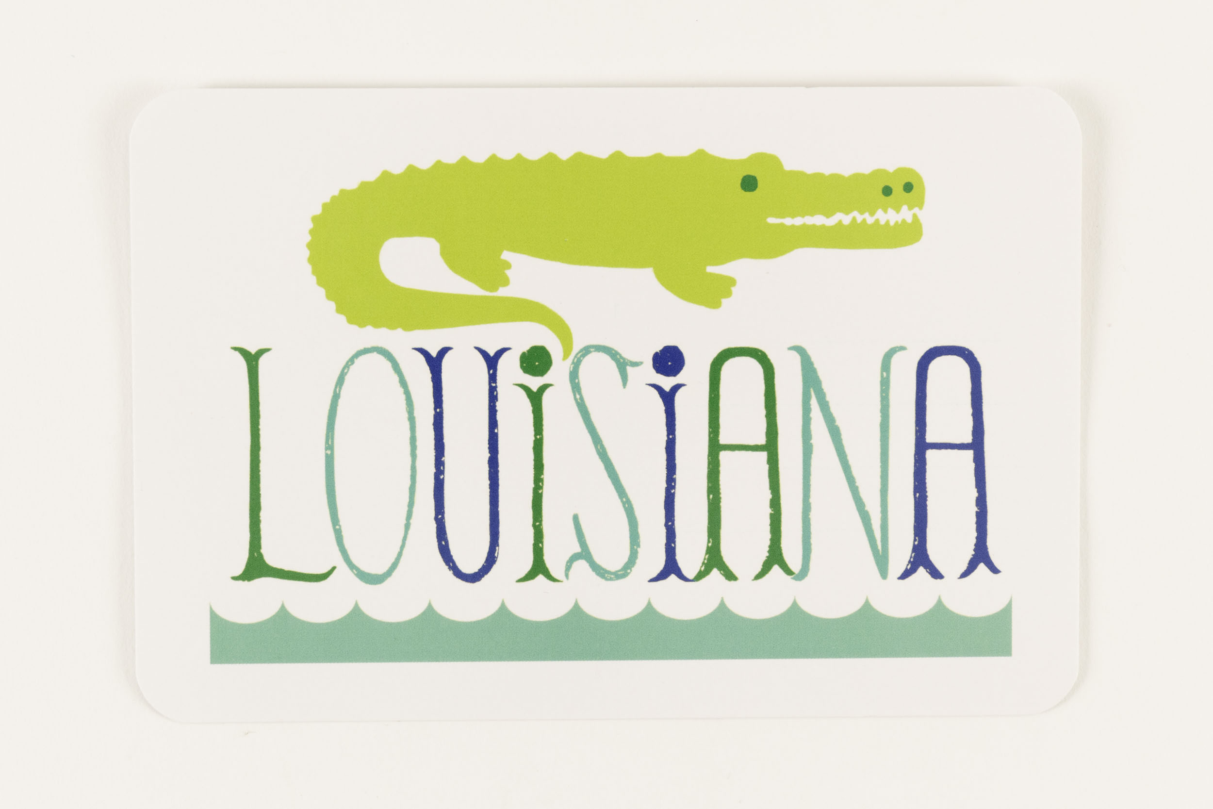 My Town Postcard Louisiana Alligator,PC-TOWN
