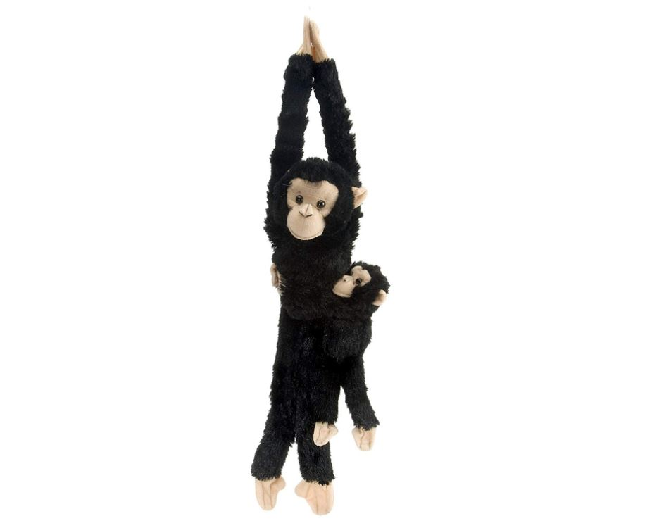 Hanging Chimpanzee with Baby,15265