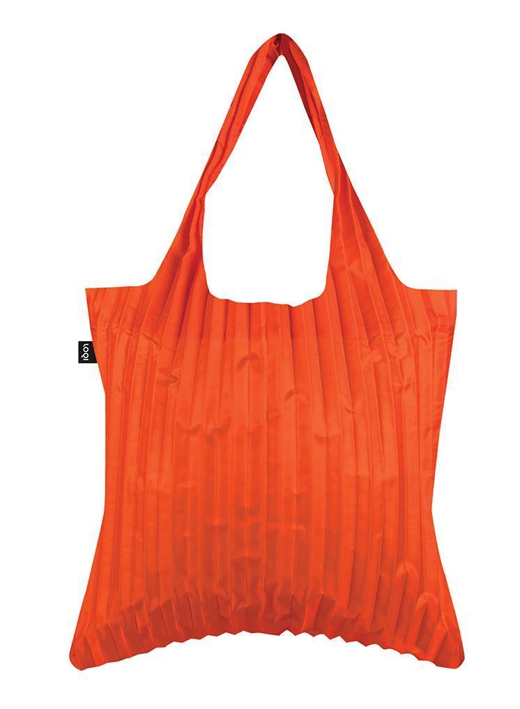 Pleated Orange Tote,PL.OR