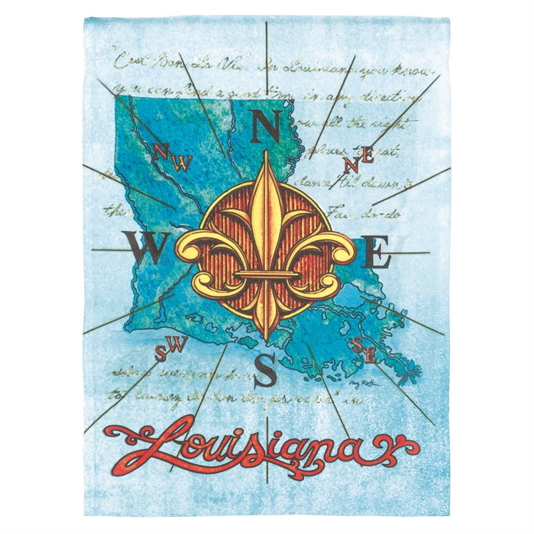 Louisiana Compass Garden Flag,M080001
