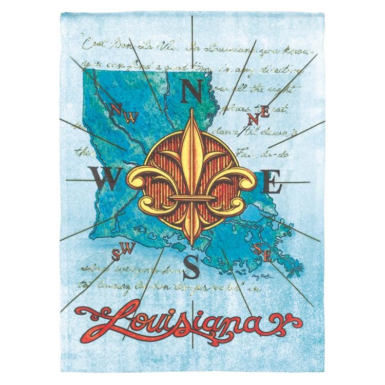Louisiana Compass Garden Flag,M080001