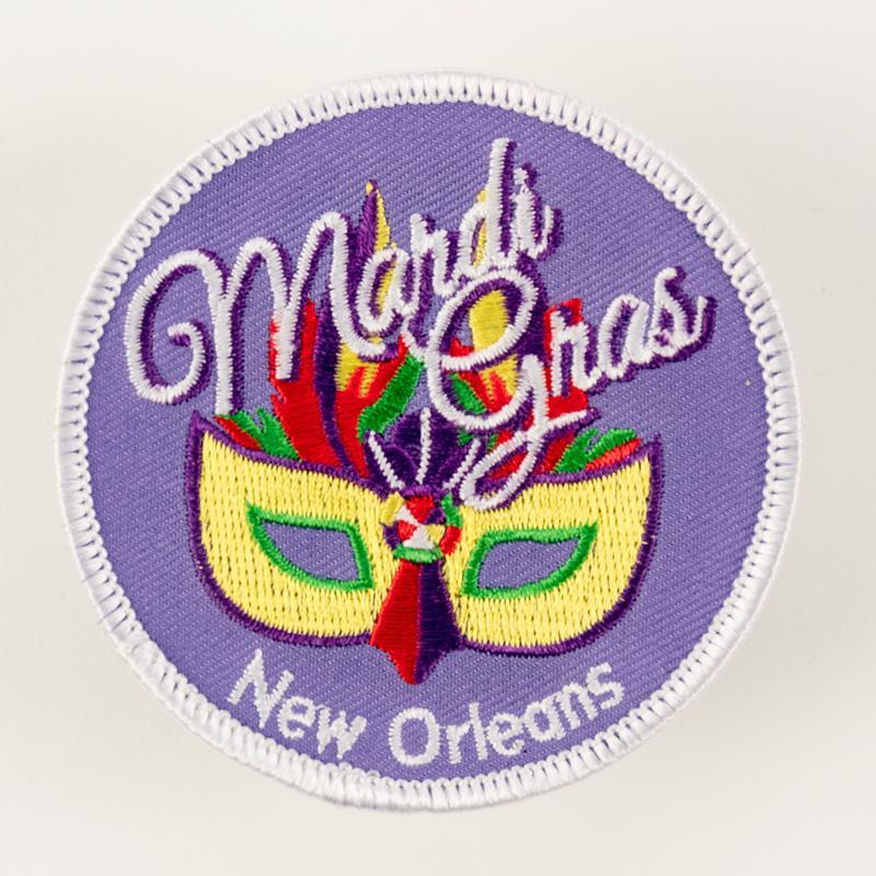 Mardi Gras Mask Patch