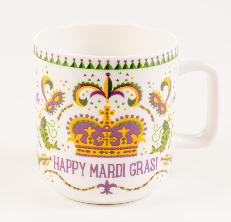 Mardi Gras Crown Mug,10344