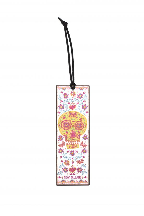 Sugar Skull Metal Bookmark,10354