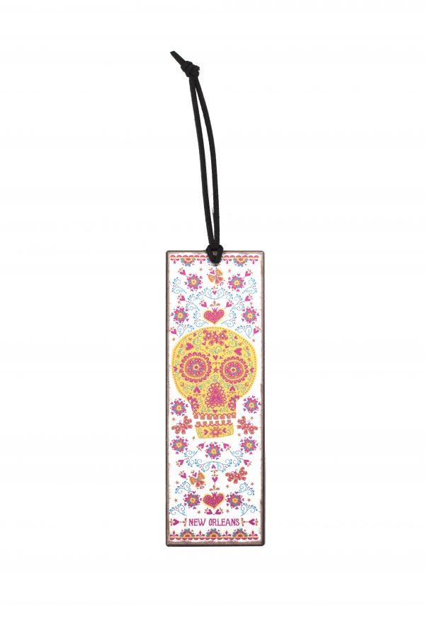 Sugar Skull Metal Bookmark,10354