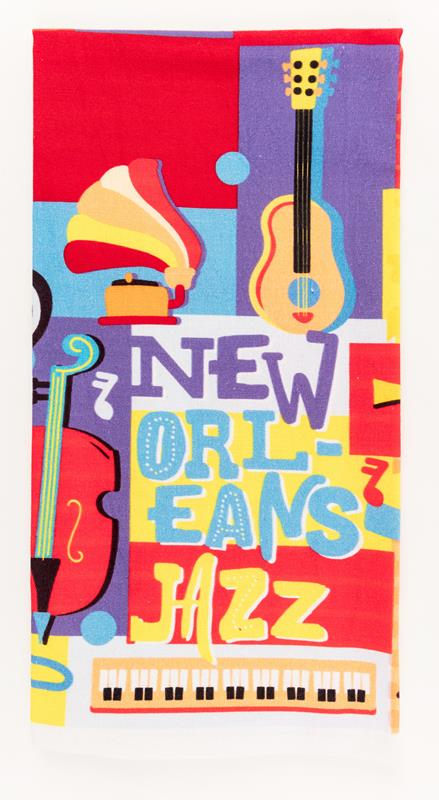 Colorful New Orleans Jazz Towel,10363