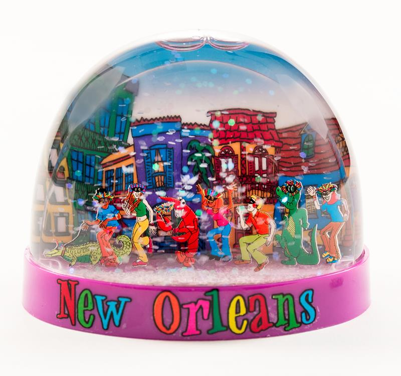 New Orleans Parade Snowglobe,635PRD