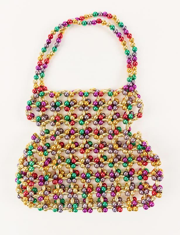 Rainbow Beaded Purse,PURSE-337A/RB