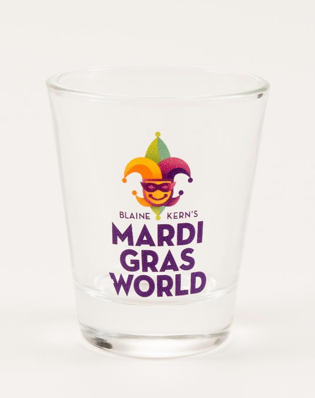 Mardi Gras World Logo Shot Glass