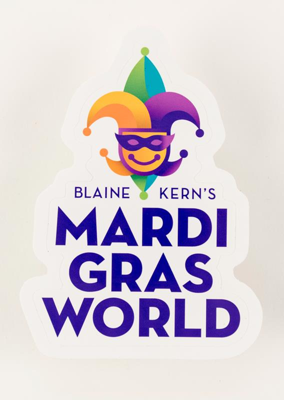Mardi Gras World Logo Sticker