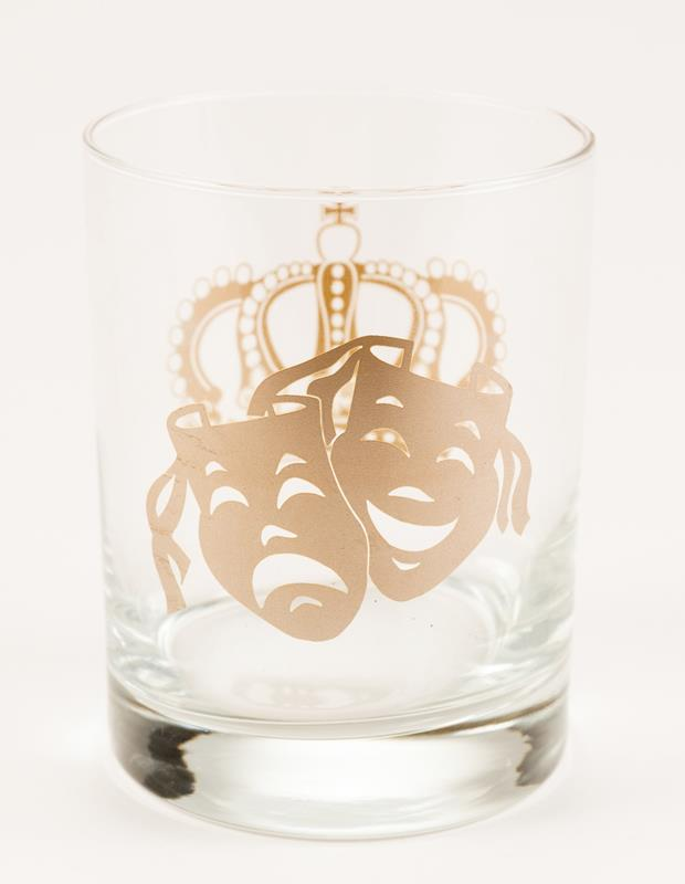 Mask and Crown Old Fashion Glass,7041