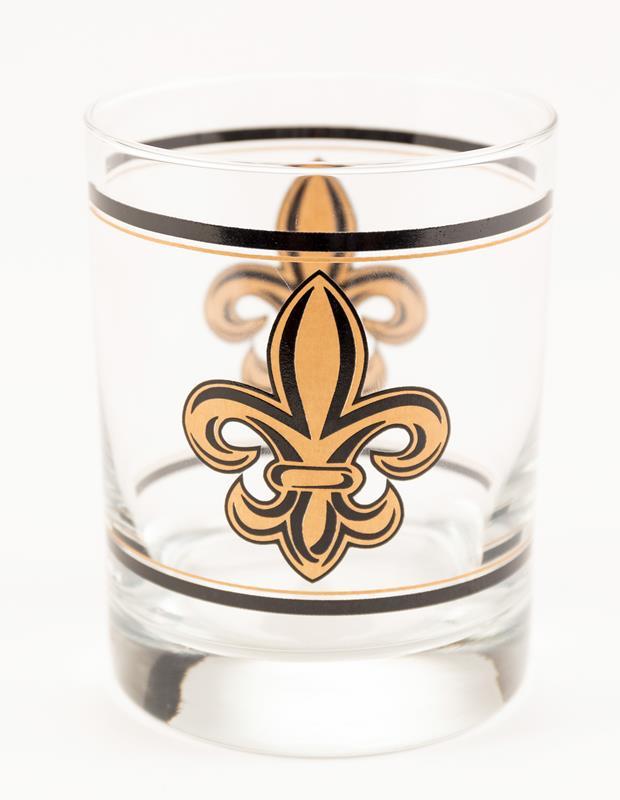 Fleur de Lis Old Fashion Glass,720/F
