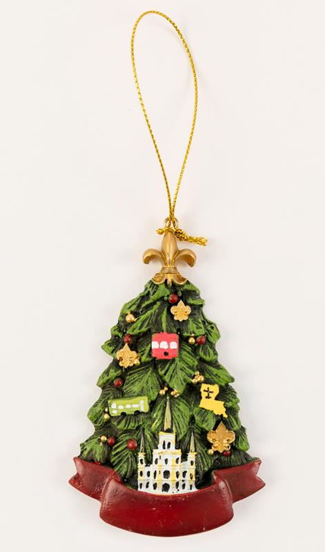 Louisiana Christmas Tree Ornament,T104
