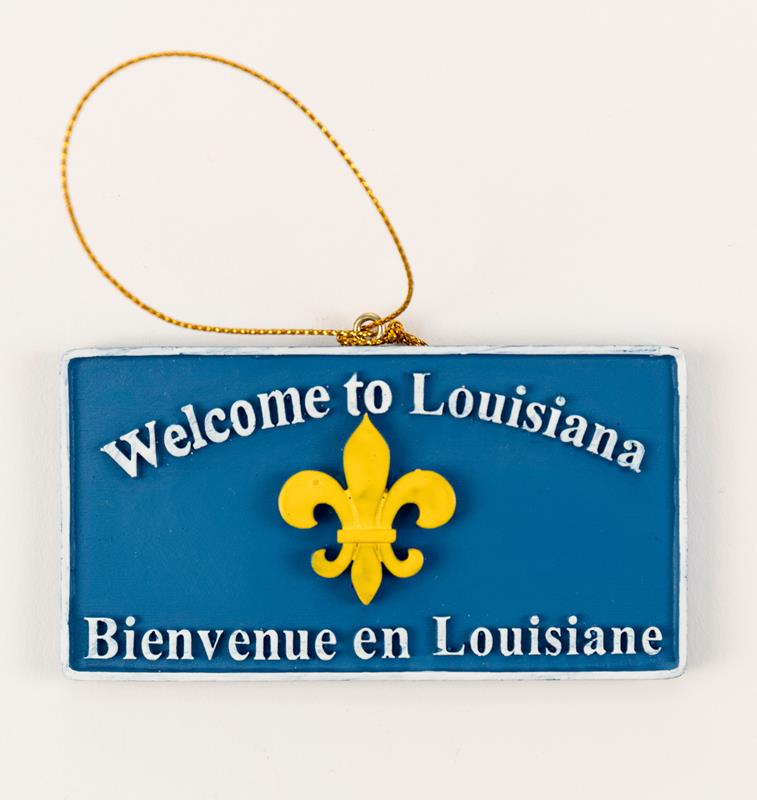 Welcome To Louisiana Ornament,T109