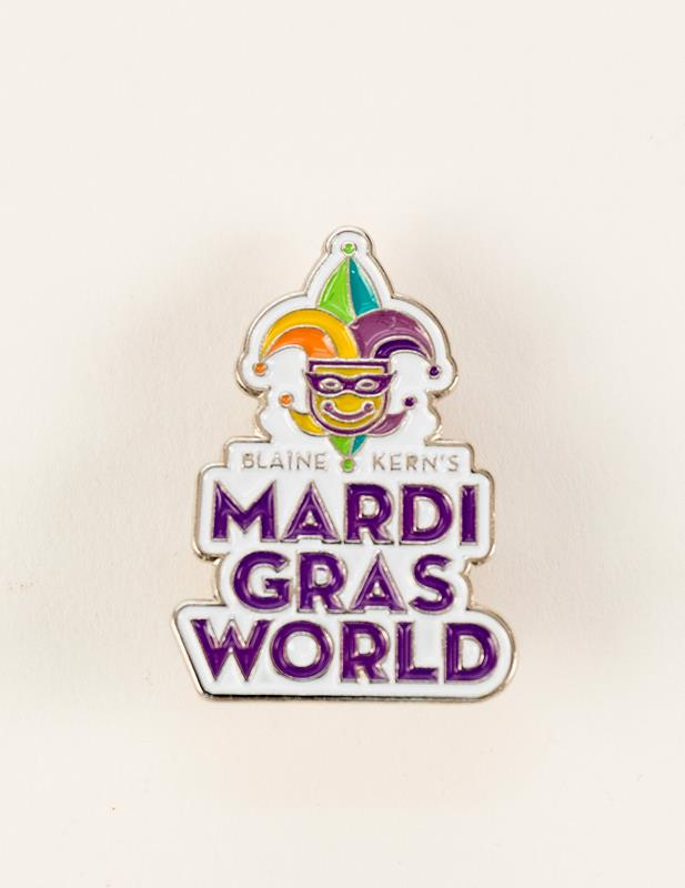 Mardi Gras World Logo Pin