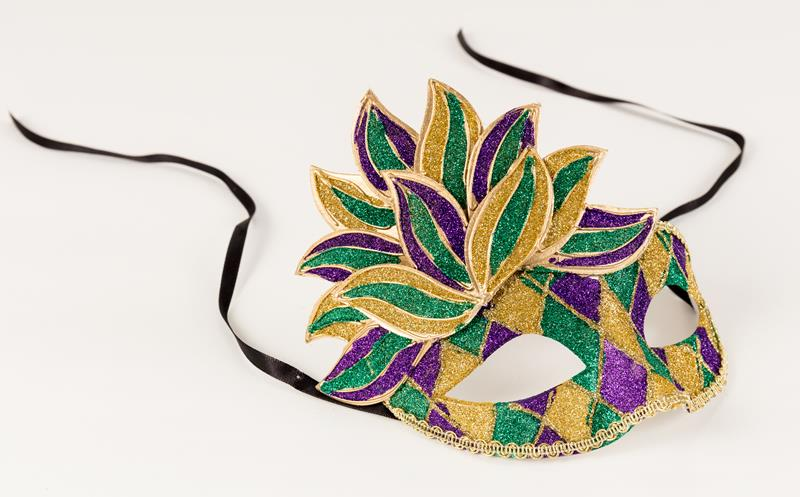Purple, Green, Gold Glitter Mask,145